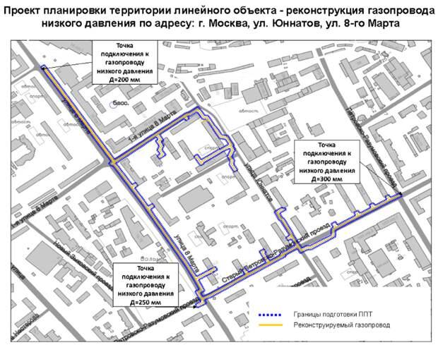 На Юннатов и 8-го Марта пройдет реконструкция газопровода