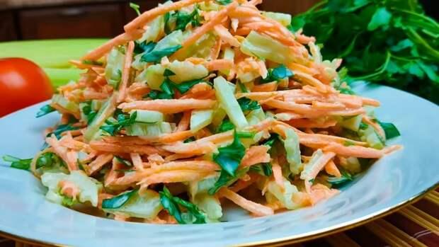 Необычный салат из моркови, который я готовлю всю весну и лето, круглый год (трачу не более 5 минут и вкусно очень)