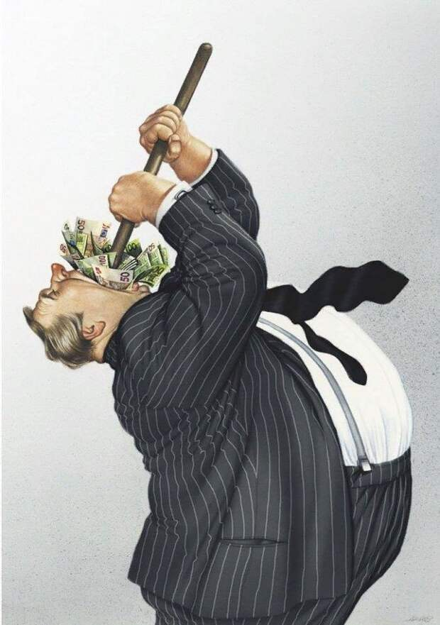 Десять проницательных иллюстраций от Гертхарда Хадерера на темы современности