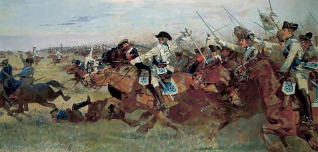 Атака прусской кавалерии при Россбахе 5 ноября 1757 года - Скрежет стали, стук копыт | Warspot.ru