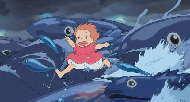 От живописи до еды: на что обратить внимание в очаровательном мультфильме «Рыбка Поньо на утесе»