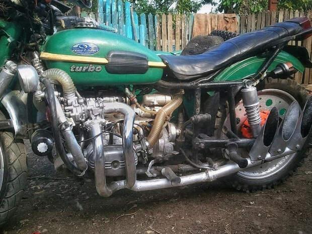 Очумелые ручки: Турбированный мотоцикл Урал из Молдовии