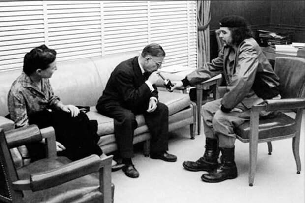 Жан-Поль Сартр и Симона деБовуар встречаются сЧе.