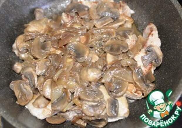 Свинина с грибами в горчичном соусе