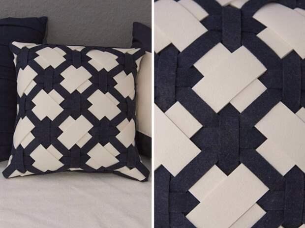 Плетеная подушка своими руками DIY