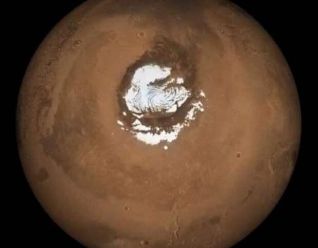 Марс — как на Красной планете обнаружили огромные запасы воды (3 фото + видео)
