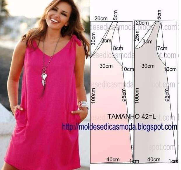 Летние платья и сарафаны с простыми выкройками
