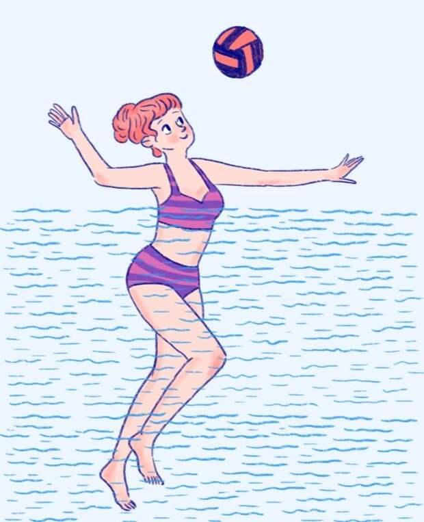 БЫТЬ В ФОРМЕ. Водные упражнения для тонкой талии