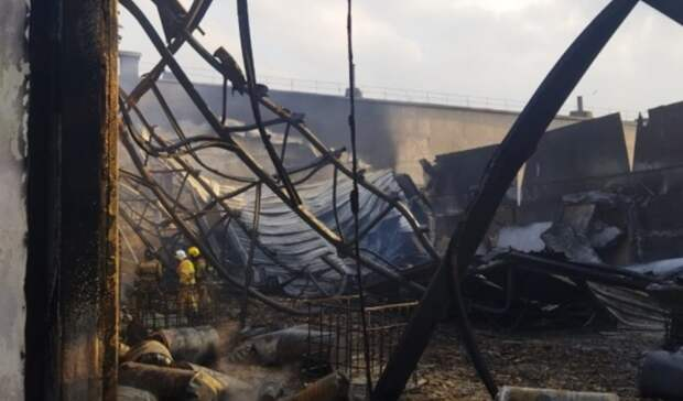 Склад сгорючими веществами загорелся под Ростовом