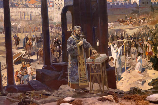 Павел Рыженко. Диорама «Крещение войска князя Владимира в Херсонесе»
