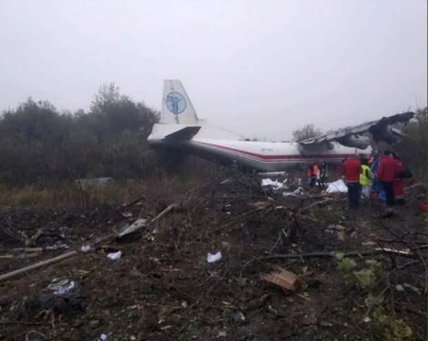 Самолёт Ан-12 совершил аварийную посадку на Украине, есть жертвы