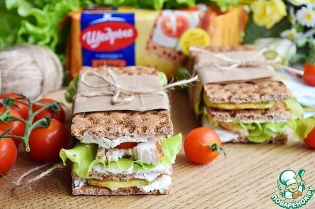 Сэндвич с курицей и кабачком