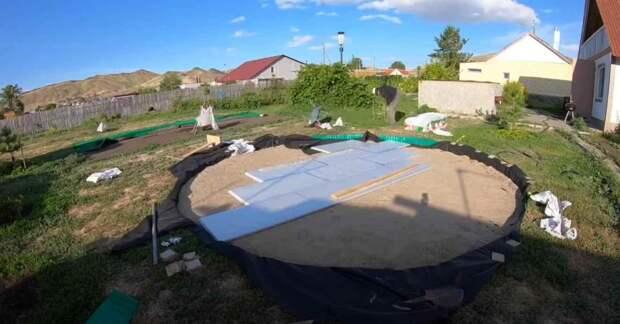 Как сделать утепленную площадку под каркасный бассейн
