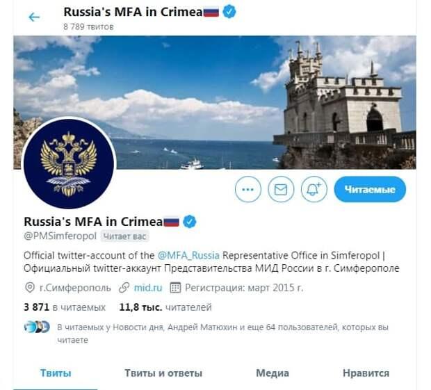 Политолог рассказал, почему Twitter признал крымский аккаунт МИД России