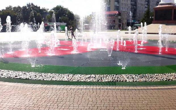В Рязани возобновил работу фонтан на Московском шоссе
