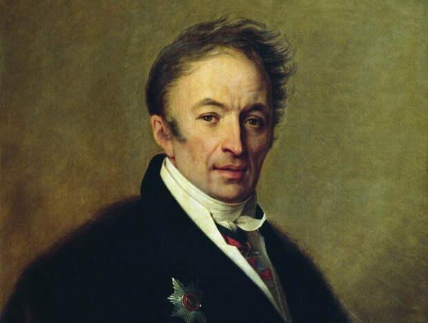 """А.Г. Венецианов. """"Портрет Н.М. Карамзина"""""""