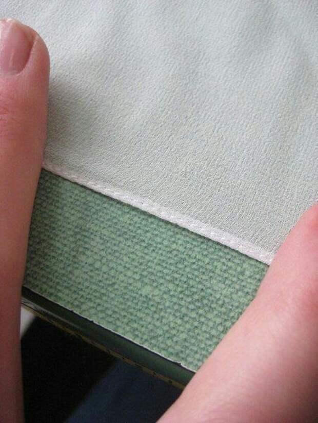 Как подшить капризный материал diy
