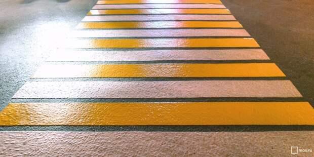В Южном Тушине обустроили семь новых пешеходных переходов