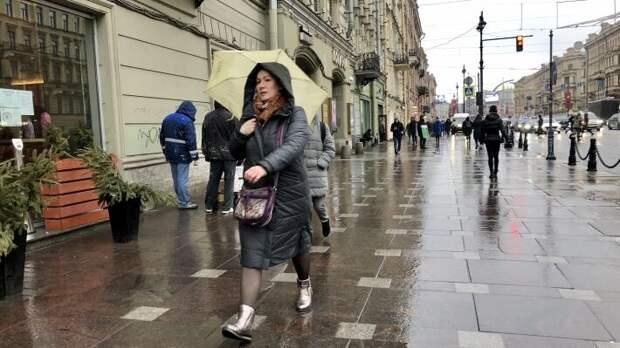 Петербург ожидают дожди к середине рабочей недели