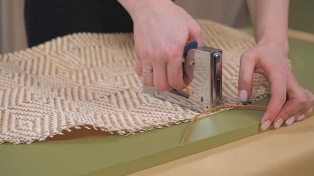 Дизайнерский шкаф своими руками из фанеры и ротангового полотна