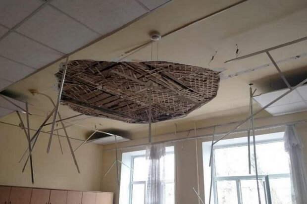 На Кубани во время обвала потолка в классе пострадали дети