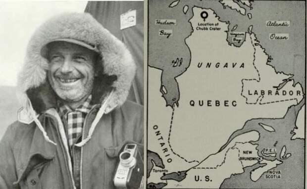 Первая экспедиция к кратеру Чабба, обнаруженному в середине XX века
