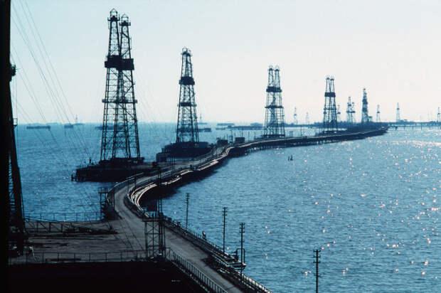 Азербайджан Каспий добыча газ нефть