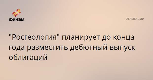 """""""Росгеология"""" планирует до конца года разместить дебютный выпуск облигаций"""
