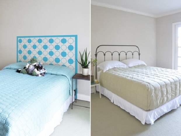 Изголовье кровати можно нарисовать своими руками. / Фото: Pinterest.su