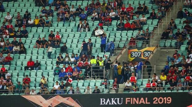Нафинал Лиги Европы вБаку людей запускали бесплатно, чтобы заполнить пустые места
