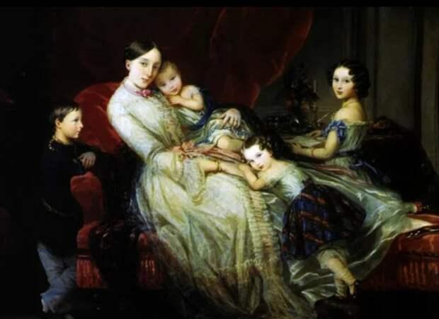 Мария Николаевна, герцогиня Лейхтенбергская с детьми, Кристина Робертсон, Источник: kulturologia.org