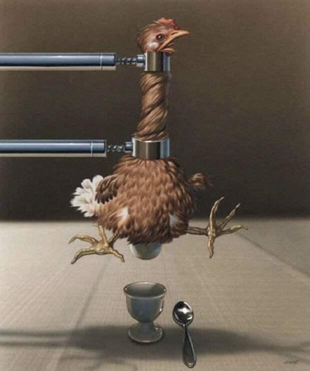 Система налогообложения. Сатира от Gerhard Haderer.