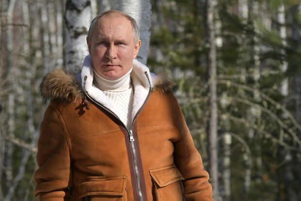 Названа стоимость мехового костюма Путина