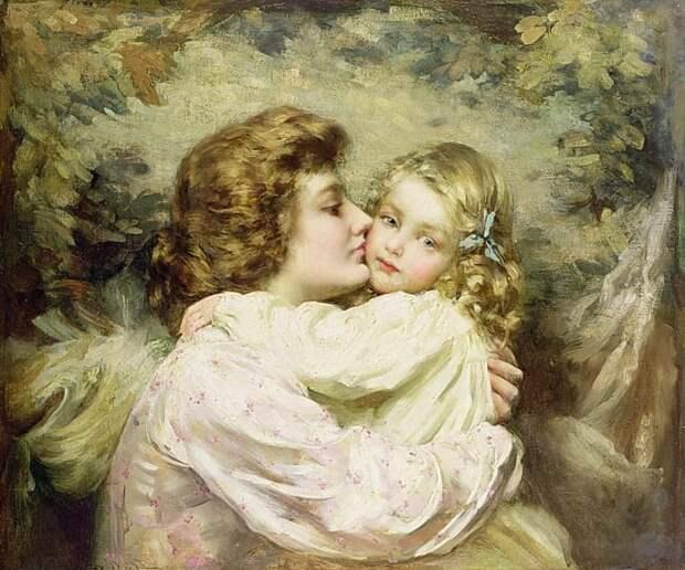 Мать и дочь (картина) — Томас Бенджамин Кеннингтон