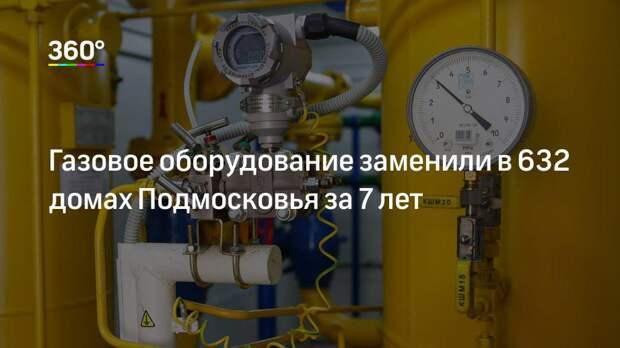Газовое оборудование заменили в 632 домах Подмосковья за 7 лет