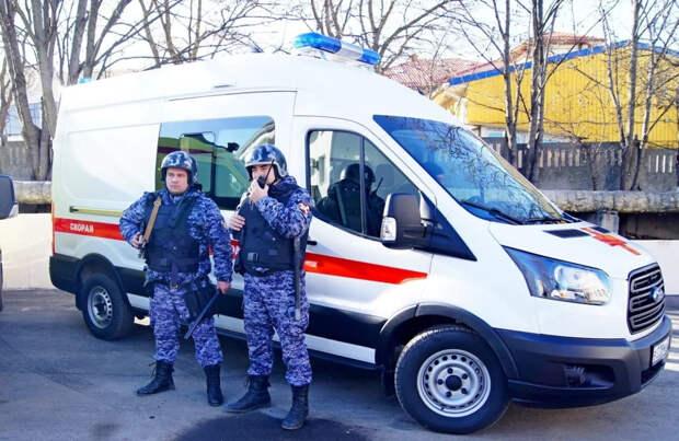 В Крыму рассказали, как Росгвардия защищает медиков от пьяных и буйных пациентов