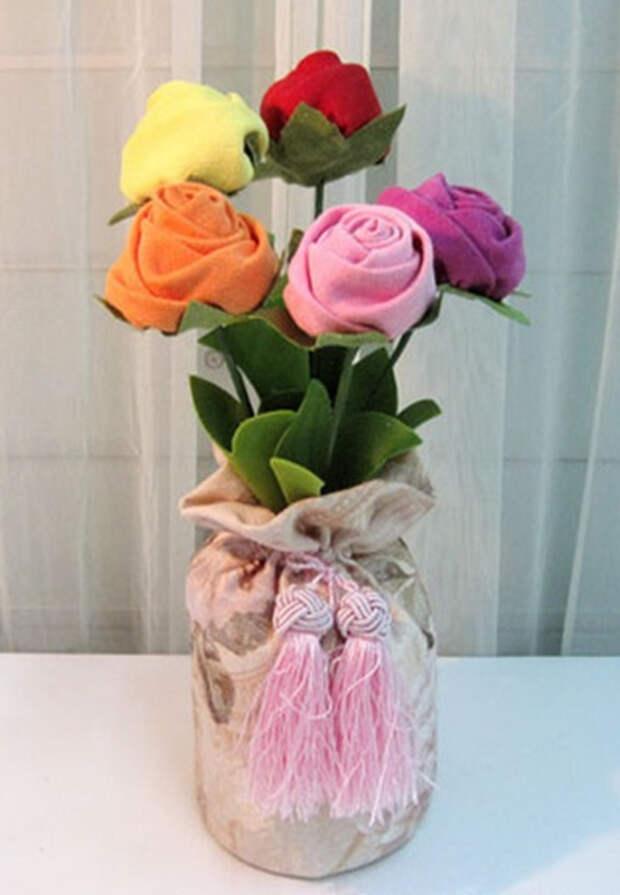 Ручная работа. Цветы из ткани (5) (399x576, 141Kb)