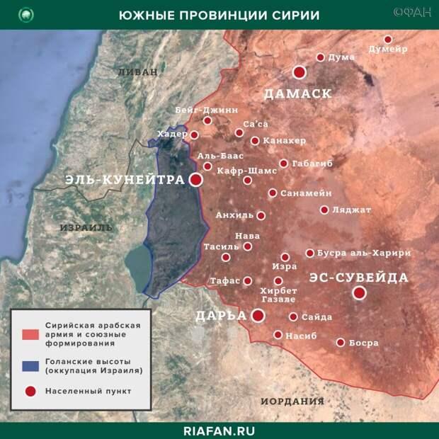 Карта военных действий в Даръа