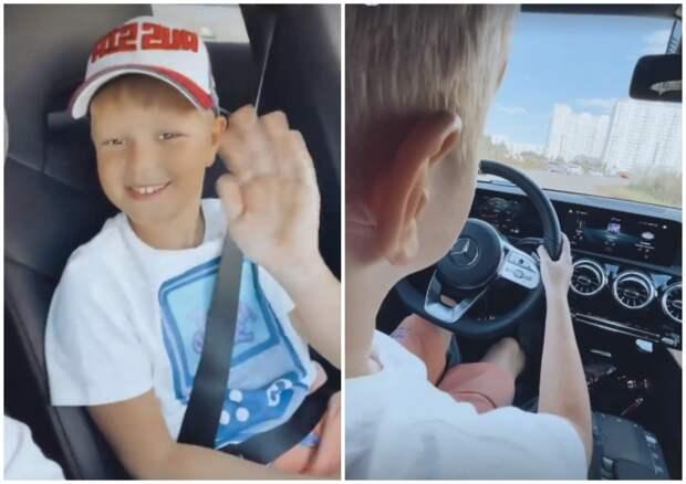 Экс-участник «Дома-2» Антон Гусев посадил 8-летнего сына за руль авто