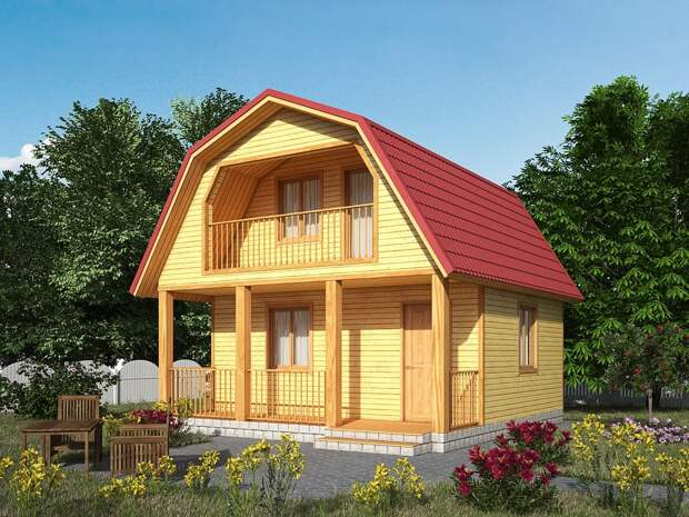 Декоративное оформление фасада каркасного дома