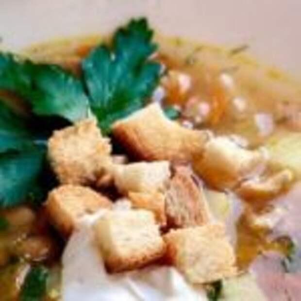 Ароматный фасолевый суп