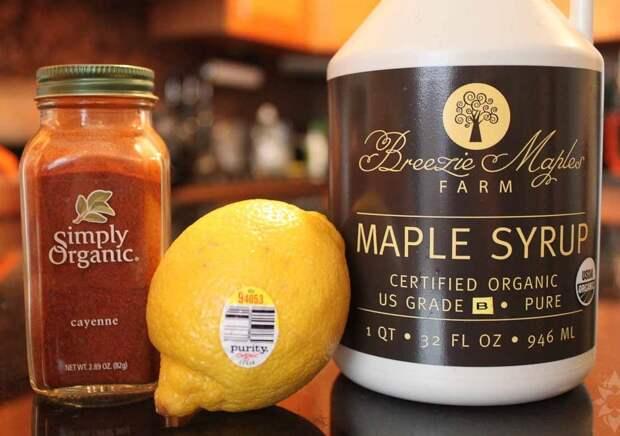 Лимонная вода с кайенским перцем