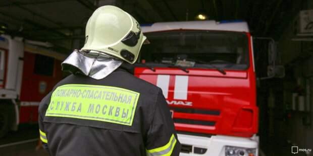 Пожарные ликвидировали возгорание на Ленинградском шоссе