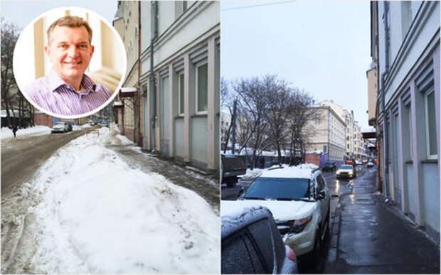 Улицу в Москве мгновенно очистили от снега после жалобы иностранного посла