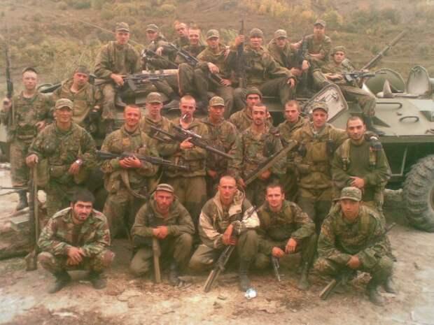 Бойцы спецназа в Чечне