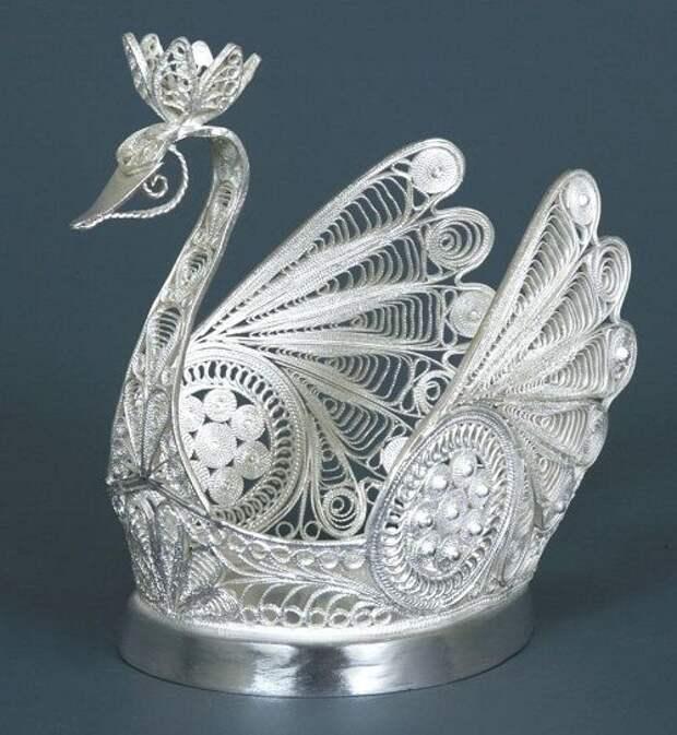 Russian Filigree Swan