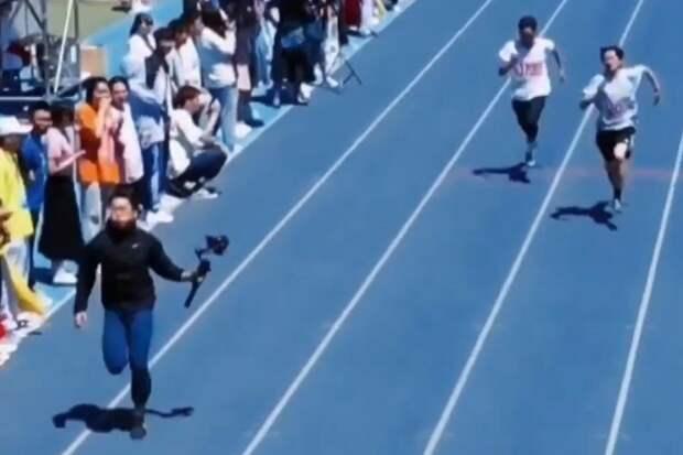 Оператор ради красивого видео обошел участников забега