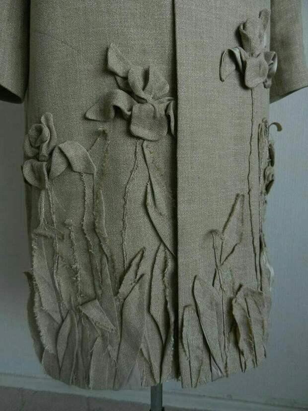 Цветы из ткани в работах дизайнеров и мастеров вышивки, фото № 33