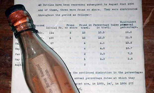 Пара пенсионеров нашла бутылку, которая провела в море 108 лет: внутри лежало письмо на трех языках