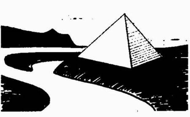 ИЛЛ. N 11.1 РЕКОНСТРУКЦИЯ ПИРАМИДЫ «БРАТ». НАХОДКА, ПРИМОРСКИЙ КРАЙ.